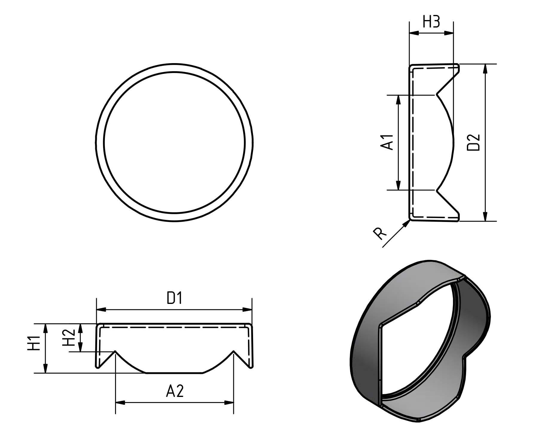 Sonnenblende schematisch
